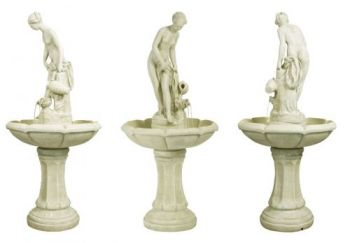 Annabella Water Feature Figurine in Ivory - H106cm by Ambienté™