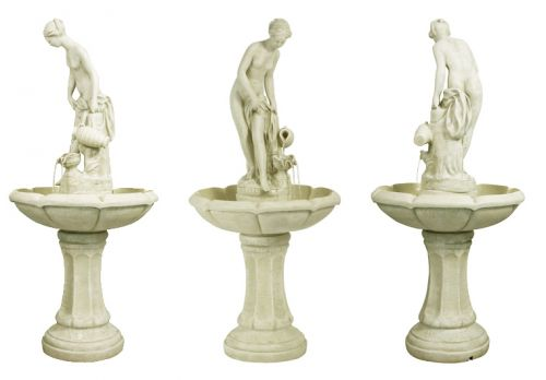 H106cm Annabella Water Feature Figurine in Ivory by Ambienté™