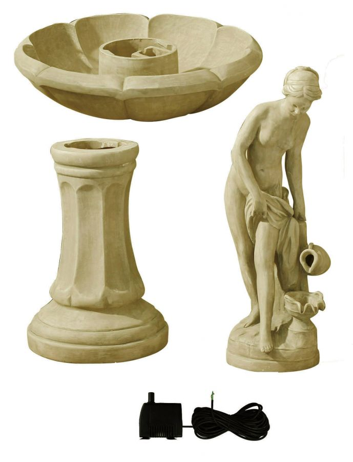 H106cm Annabella Water Feature Figurine in Pearl by Ambienté™