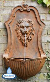 H75cm Gentle Lion Head Wall Fountain | Indoor/Outdoor Use