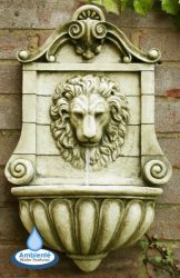 H50cm King Lion Head Wall Fountain - For Indoor/Outdoor Use by Ambienté