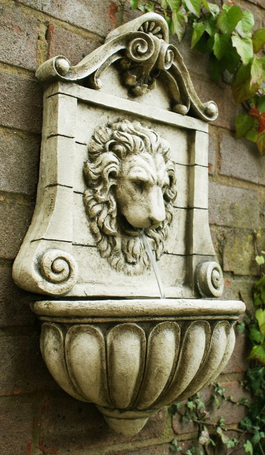 King Lion Head Wall Fountain Water Feature By Ambient 233 163 69 99