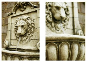 King Lion Head Wall Fountain Water Feature by Ambienté™