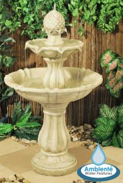 H98cm Elizabethan 2 tier Fountain Water Feature by Ambienté™