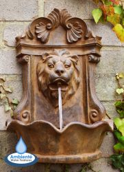 H40cm Small Lion Head Wall Fountain | Indoor/Outdoor Use