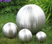 Brushed Stainless Steel Gazing Globe Sphere