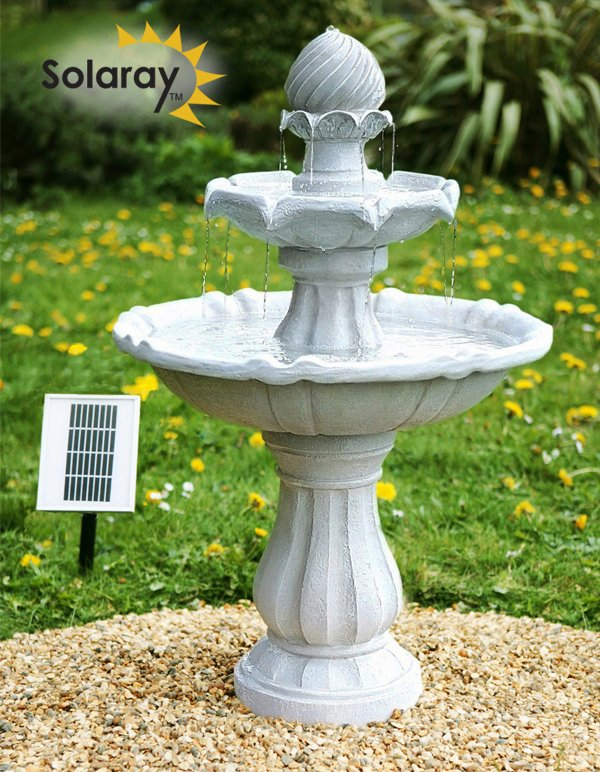 Imperial Round Tiered Solar Fountain (H92cm)
