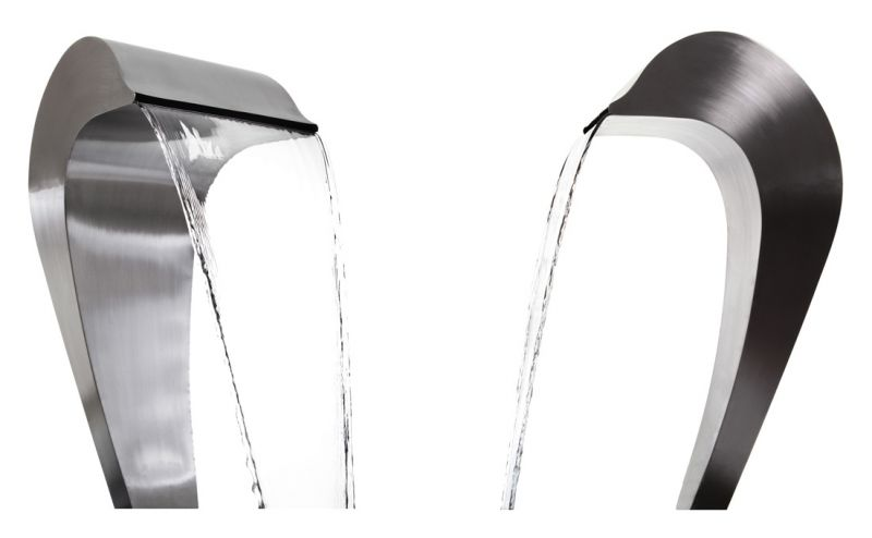 Dolphin Falls Free Standing Stainless Steel Water Feature - No Reservoir