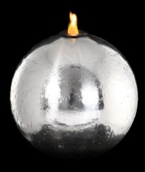 50cm St Helens Stainless Steel Sphere, Fire and Water Feature by Ambienté™