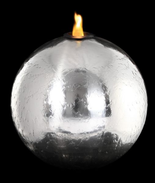St Helens 50cm Stainless Steel Sphere, Fire and Water Feature
