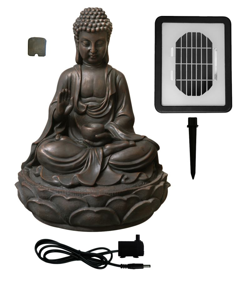 Anya Buddha Solar Water Feature by Solaray™ - H39cm