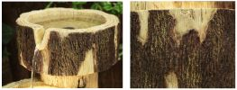 3 Tier Log Cascade Water Feature with Lights by Ambienté