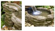 Cascading Stone River Water Feature with Light - L143cm