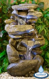 H100cm Thornton Hops 3 Tier Water Feature with Lights by Ambienté™