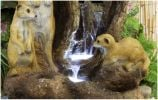 Meerkat Falls Water Feature with Lights