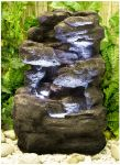 Four Tier Rock Falls Water Feature with Lights