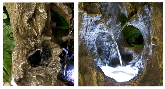 H55cm Logger Falls Water Feature with LED Lights by Ambienté™