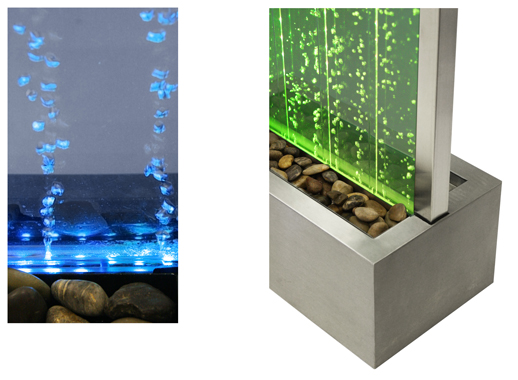 184cm Bubble Water Wall with Colour Changing LED Lights - Indoor Use