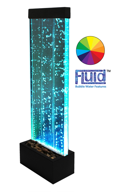123cm Bubble Water Wall with Colour Changing LED Lights - Indoor Use