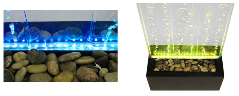 4ft / 123cm Bubble Water Wall with Colour Changing LED Lights - Indoor Use