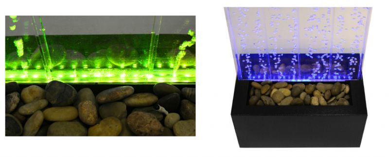 "4ft 9"" / 150cm Bubble Water Wall with Colour Changing LED Lights - Indoor Use"