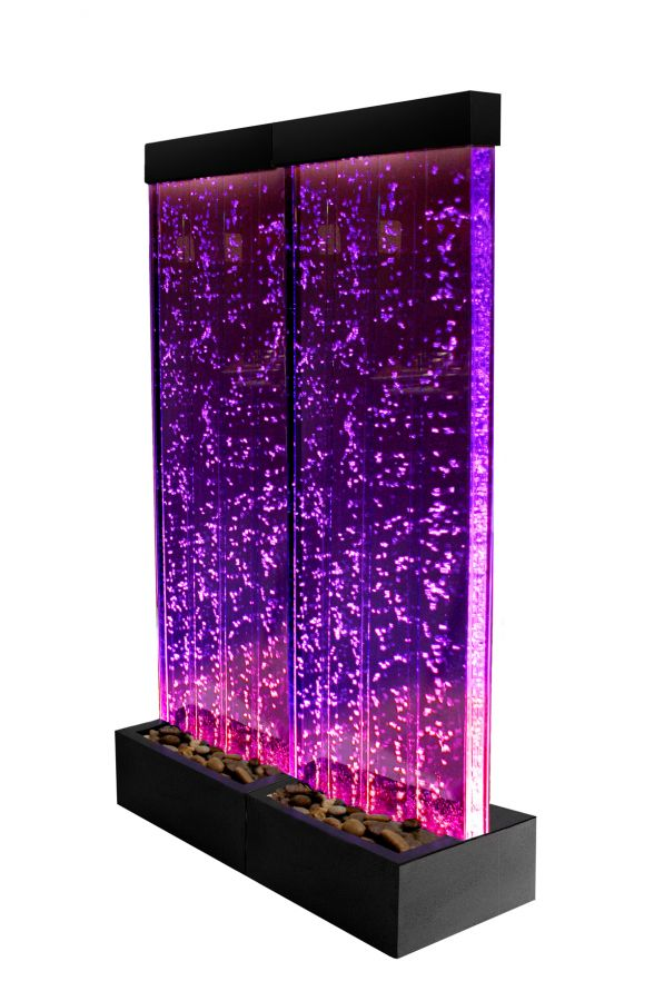 150cm Bubble Water Wall With Colour Changing Led Lights