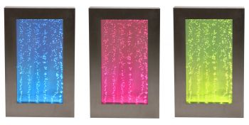 3ft / 95cm Hanging Portrait Bubble Water Wall with Colour Changing LED Lights - Indoor Use