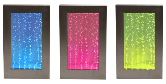 95cm Hanging Portrait Bubble Water Wall with Colour Changing LED Lights - Indoor Use