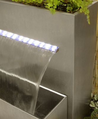 H89cm Sutherland Falls Large Rectangular Planter Waterfall Cascade With LED Lights by Ambienté™