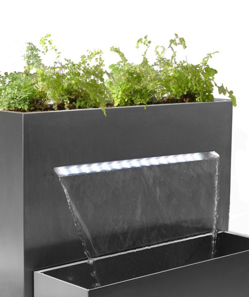 H89cm Berkeley Small Rectangular Planter Waterfall Cascade With Led