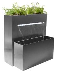 Sutherland Falls Large Rectangular Planter Waterfall Cascade With LED Lights - H89cm x W72cm