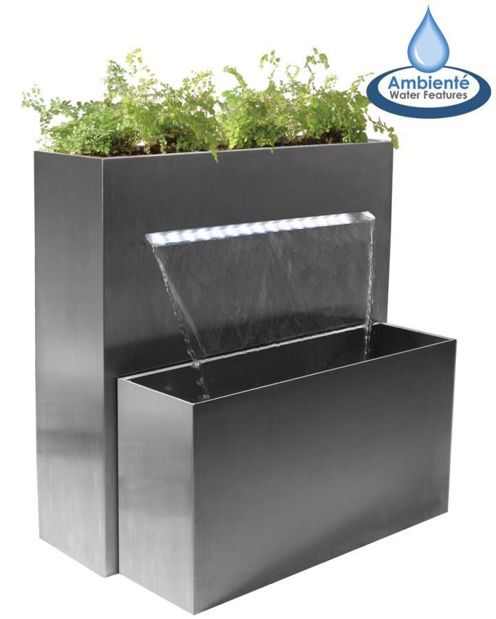 H89cm Sutherland Falls Planter & Waterfall Cascade with Lights | Indoor/Outdoor Use by Ambienté