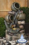 Hoveton Jugs Cascade Water Feature with Lights by Ambienté