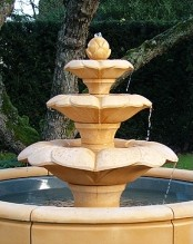 Water Blossom Stone Fountain