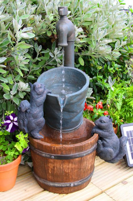 72cm Solar Powered Buckets and Tap Water Feature by Solaray™