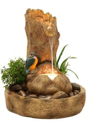 Kingfisher Tree Stump Water Feature Planter
