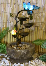 Nature Glow Love Birds Branch Water Feature With Lights