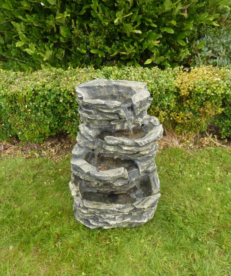 Medium 4 Pool Rock Water Feature With Lights
