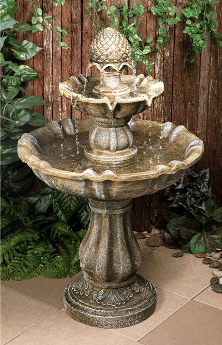 H100cm Zuvan 2-Tier Water Fountain by Ambienté