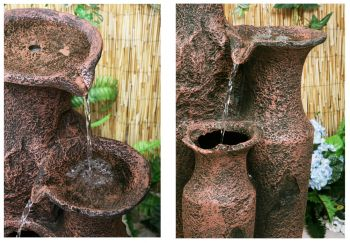Sama Cascading Jars Water Feature - H84cm