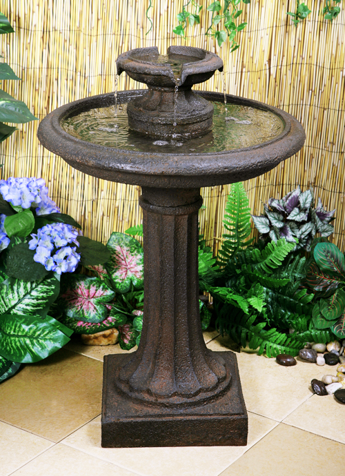 Maleda Bird Bath Water Fountain