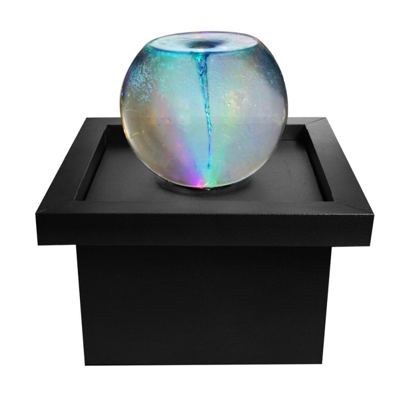 Vortex Whirlpool Orb Sphere Water Feature with Colour Changing Lights