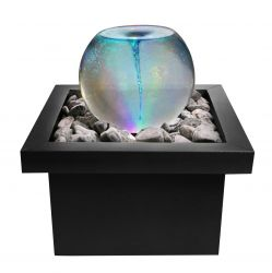 H52cm Vortex Whirlpool Orb Water Feature with Colour Lights | Indoor/Outdoor Use by Ambienté