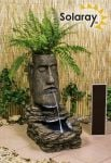 Easter Island Head Solar Water Feature and Planter with LED Lights by Solaray� - H73cm