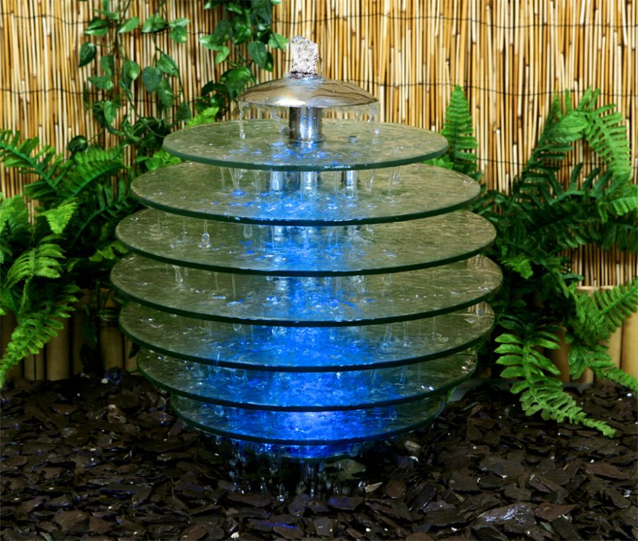 Arcadia Glass Tree Water Feature - Large - 47cm Height
