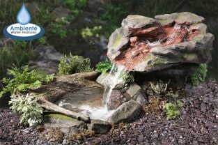 H70cm Utsuri Falls Stone River Water Feature with Pond by Ambienté