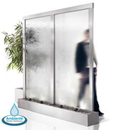 H203cm Colossus Stainless Steel & Glass Water Wall Cascade | Indoor & Outdoor use by Ambienté