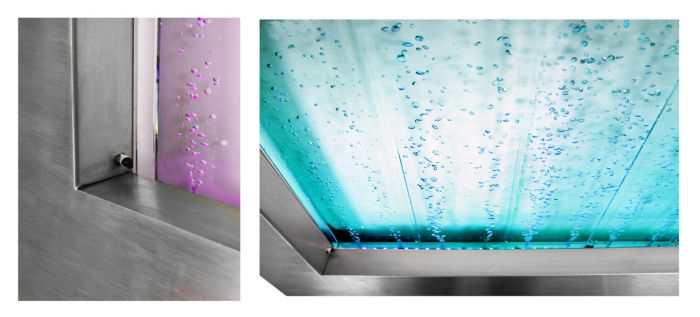 95cm Hanging Landscape Bubble Water Wall with Colour Changing LED Lights - Indoor Use