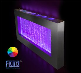 H55cm Bubble Hanging Landscape Water Wall with Colour-Changing LEDs | Indoor Use by Ambienté