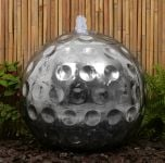 50cm Polished Golf Ball Stainless Steel Sphere Water Feature